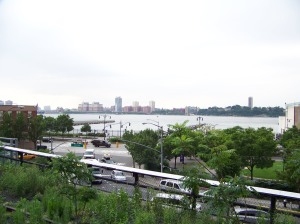 The view to Hoboken, New Jersey